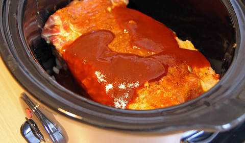 pulled pork nella slow cooker