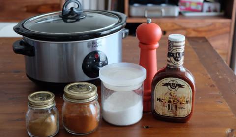 Ingredienti per le costolette in salsa BBQ