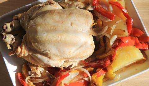 pollo con peperoni prima di essere informato