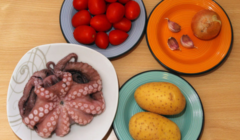 ingredienti per polpo nella slow cooker