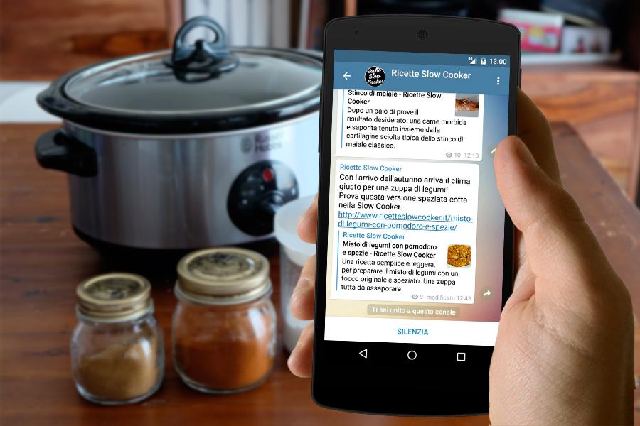 il canale di Ricette Slow Cooker su Telegram