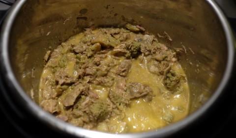 tacchino con broccolo romanesco cotto nella slow cooker
