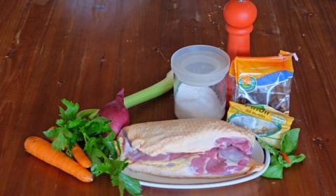 ingredienti per spezzatino di petto d'anatra