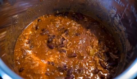 il chili con carne nella slow cooker