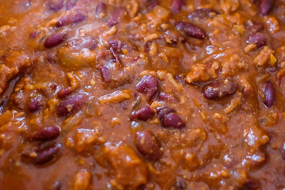 chili con carne cotto nella slow cooker