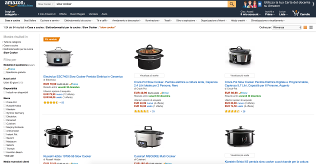 pagina amazon slow cooker