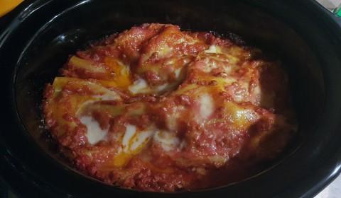 lasagna a fine cottura nella slow cooker