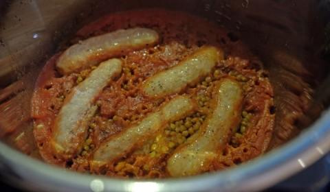 lenticchie e salsicce nella Slow Cooker
