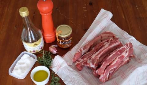 Ingredienti per Costolette al miele Slow Cooker