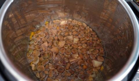 Le fave a cottura ultimata nella Slow Cooker