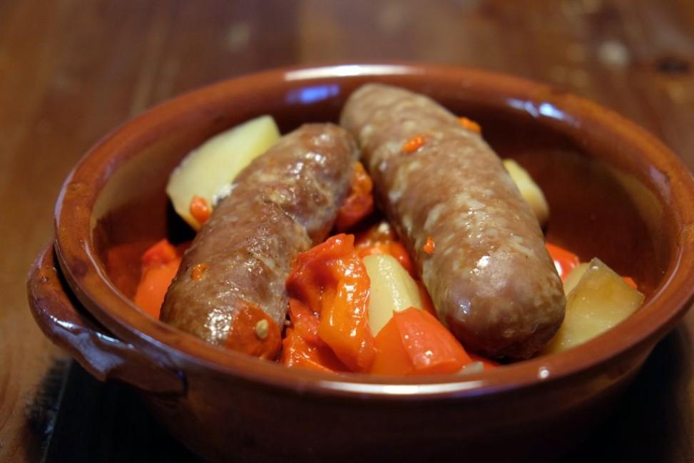 Salsiccia patate e peperoni Slow Cooker