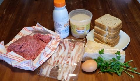 Ingredienti polpettone con pancetta