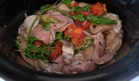 Coratella di agnello in cottura nella Slow Cooker