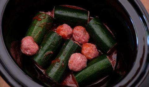 Le zucchine ripiene cotte nella Slow Cooker