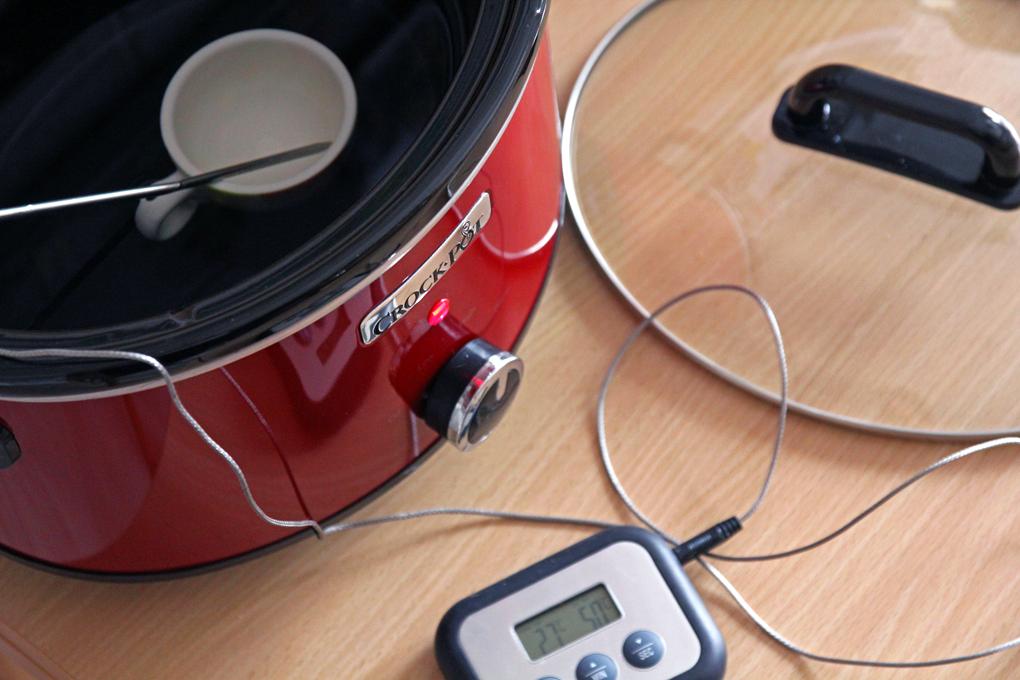 misurazione temperatura high e low slow-cooker