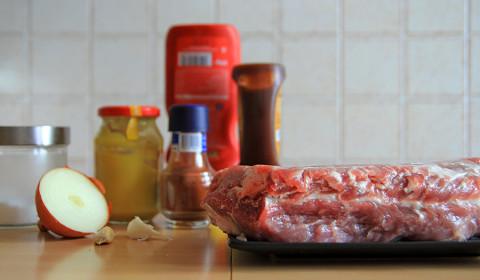 ingredienti per il pulled pork cotto nella slow cooker