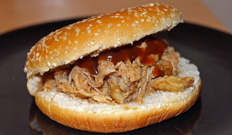 panino con pulled pork cotto nella slow cooker