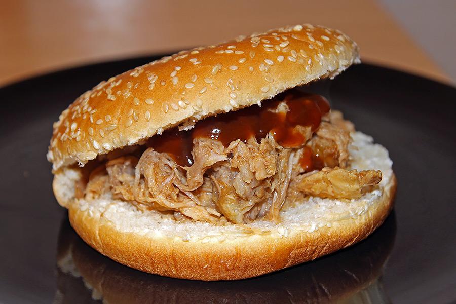 panino con pulled pork cotto nella slow cooker