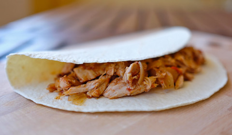 fajitas di pollo alla Slow Cooker