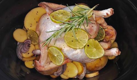 il pollo al lime cotto nella pentola Slow Cooker
