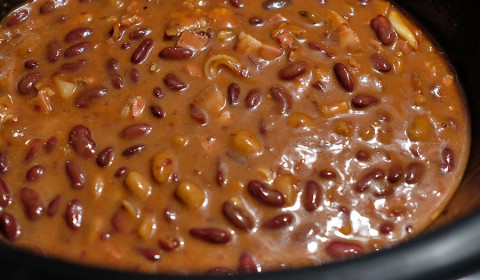 i fagioli ad inizio cottura nella Slow Cooker