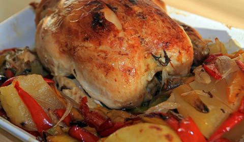 ricetta pollo con peperoni cotto con la slow cooker