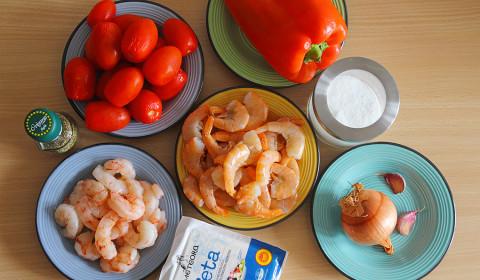 ingredienti per saganaki garides
