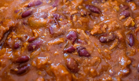 chili con carne cotto nella slow cooker