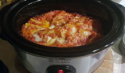 lasagna in cottura nella slow cooker