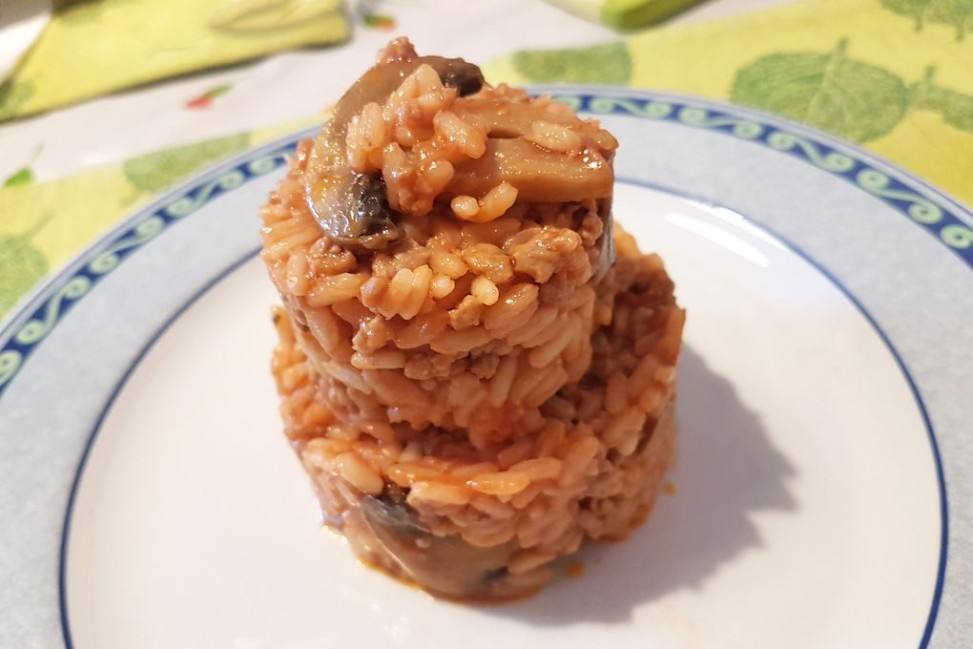 Risotto ai funghi cotto in Slow Cooker