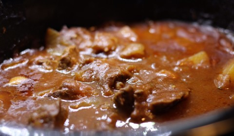 Gulash ungherese a fine cottura nella Slow Cooker