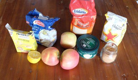 Ingredienti per crumble di mele Slow Cooker