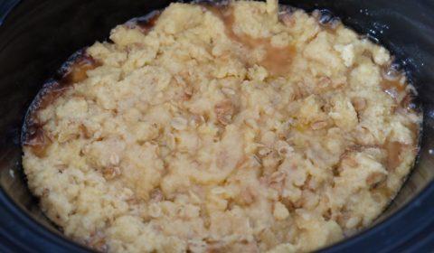 Crumble di mele cotto nella Slow Cooker