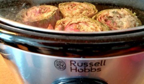 Carciofi in umido in cottura nella Slow Cooker