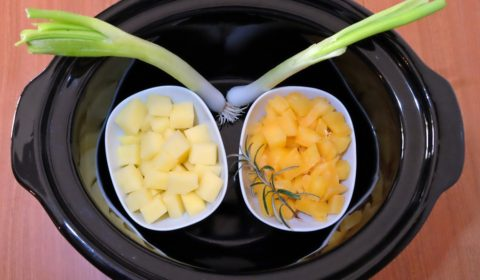 Ingredienti per Vellutata di zucca e patate in Slow Cooker