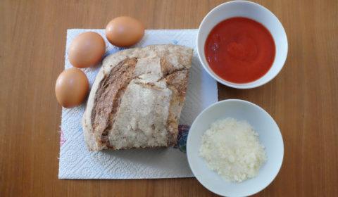 Ingredienti per le pallotte cacio e ova cotte in Slow Cooker