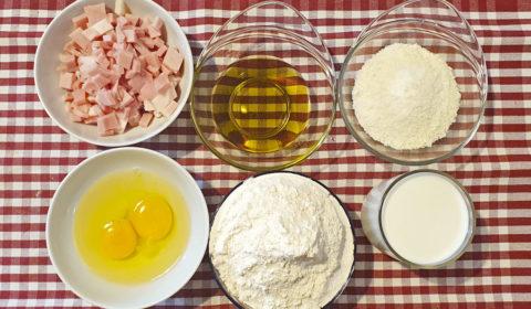 Ingredienti per torta salata nella Slow Cooker