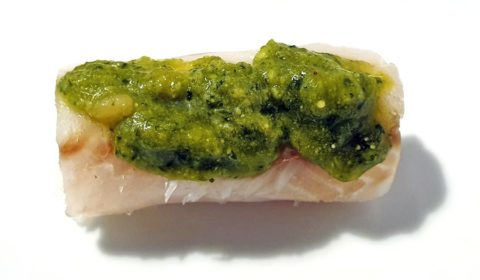 Il pesto sul filetto di nasello