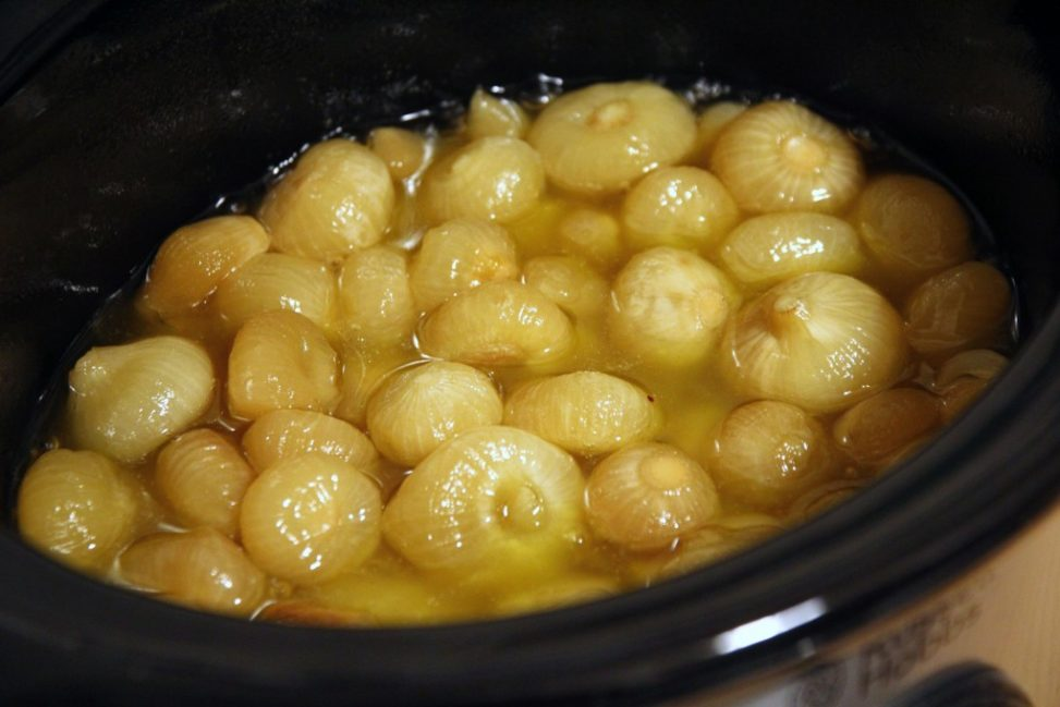 Cipolline in agrodolce cotte nella Slow Cooker