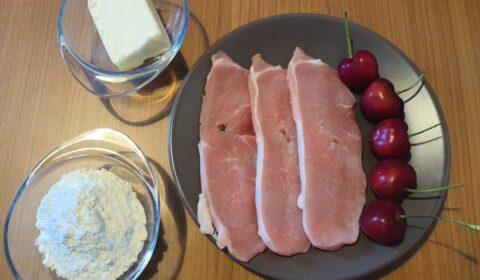 Ingredienti per lonza alle ciliegie in Slow Cooker