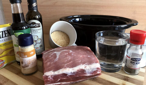 Ingredienti per ricetta Arista di maiale glassata al balsamico in Slow Cooker