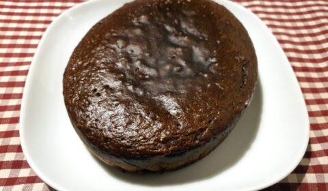 La torta al caffè a fine cottura